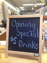 opening special drinks $5
