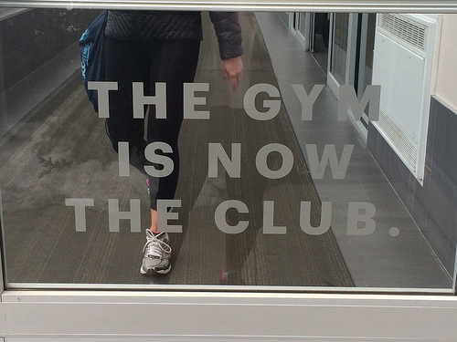 the gym is now the club