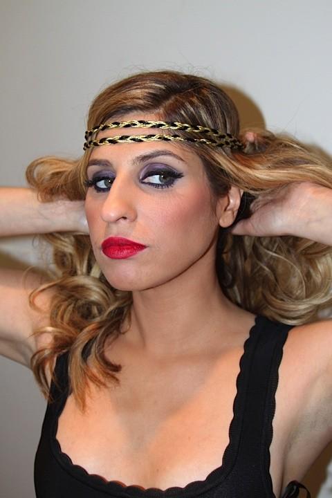 chanel wears blackgold heaven&earth double braided piece