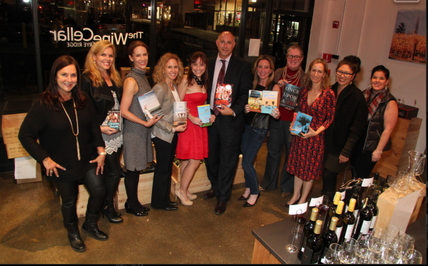 StacyKnows and EmmaWestchester team up with 8 local authors for a night of Wine Tasting and Chatting at The Wine Cellar