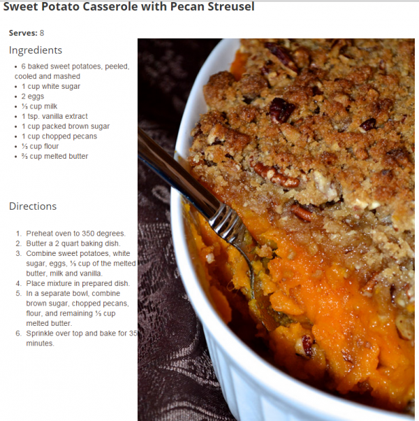 pecan streussel sweet potatoes