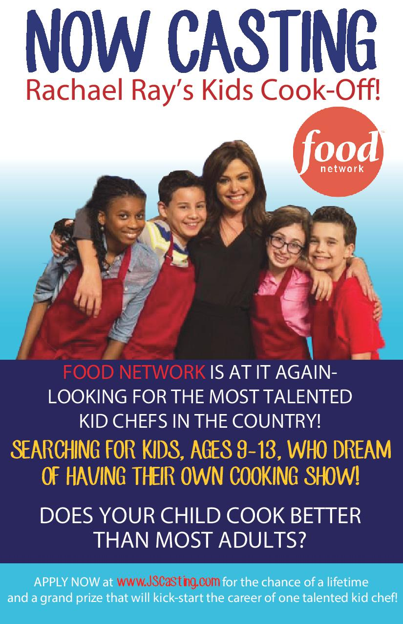 Casting Culinary Kids for Food Network's Rachael Ray's Kids Cook-Off!