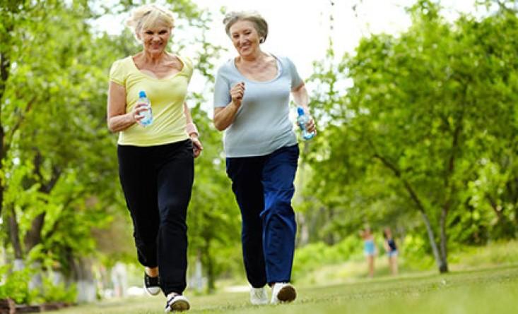 older people jogging