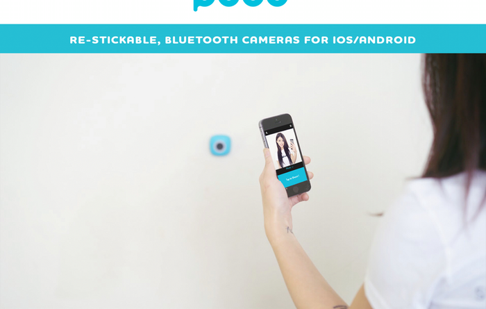 restickable  blietooth camera