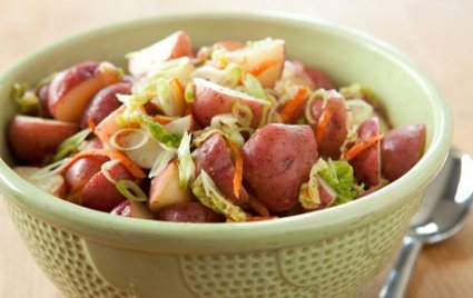 Potato Salad with Cabbage and Spicy Mustard