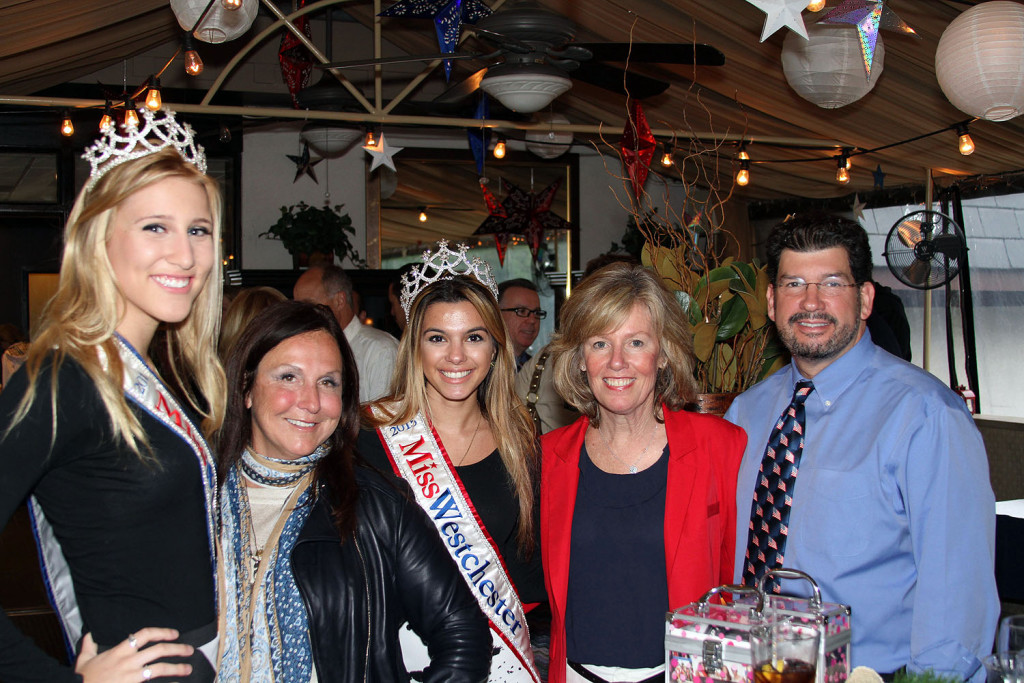Left to right: Jordan Decker, Miss Westchester Teen 2015; Stacy Geisinger, Stacyknows; Nadia Manginelli, Miss Westchester, 2015; Karen Herrero, Restaurant Manager, NY Hospitality Group; Peter Herrero, Founder/GM, NY Hospitality Group.