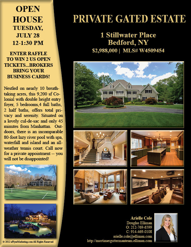 Country Club Living in Bedford! Open House 7/28 12-1:30pm With Raffle – Enter to Win 2 US Open Tickets!