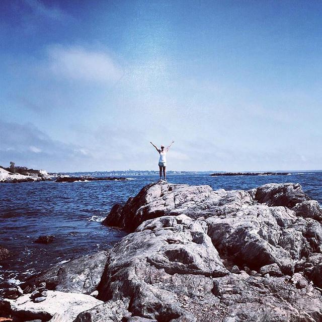 heidi on the cliffwalk