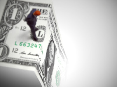 Conceptual image of a financial uncertainty.