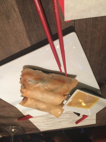 Chicken and Peanut Spring Rolls