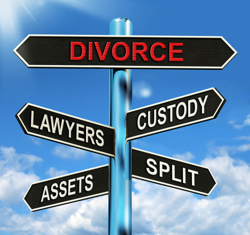 Divorce Signpost Meaning Custody Split Assets And Lawyers