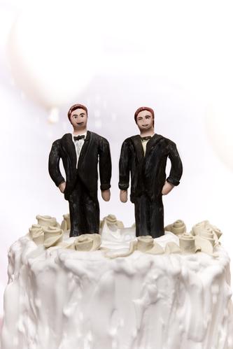 Gay/same sex marriage concept.