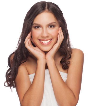 Young beautiful healthy woman