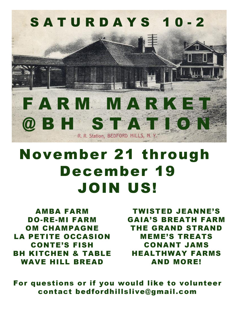 Indoor Farmer's Market to the Bedford Hills Train Station