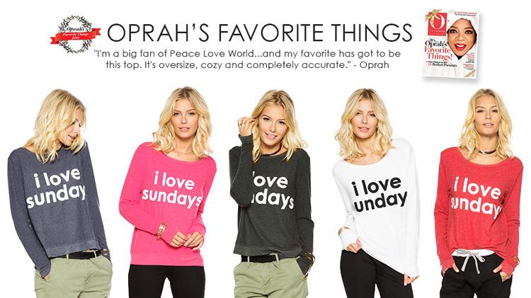 Love Sunday S So Does Oprah