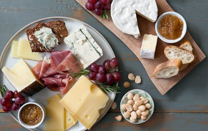Globally Inspired Cheese Plate
