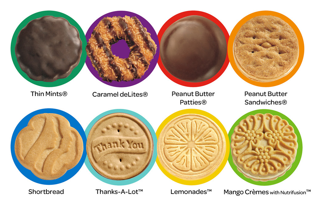 Girl scout cookie nutritional information