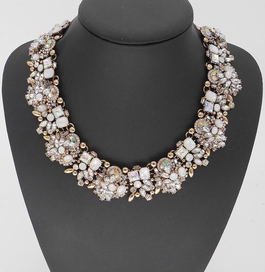Bib crystal necklace