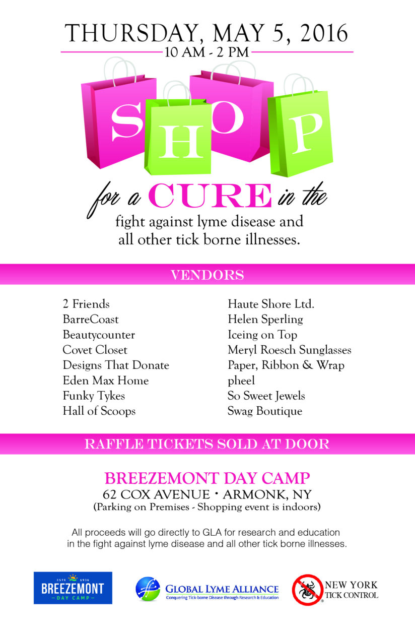 SHOP FOR A CURE IN THE FIGHT AGAINST LYME AND TICK-BORNE DISEASES In ARMONK