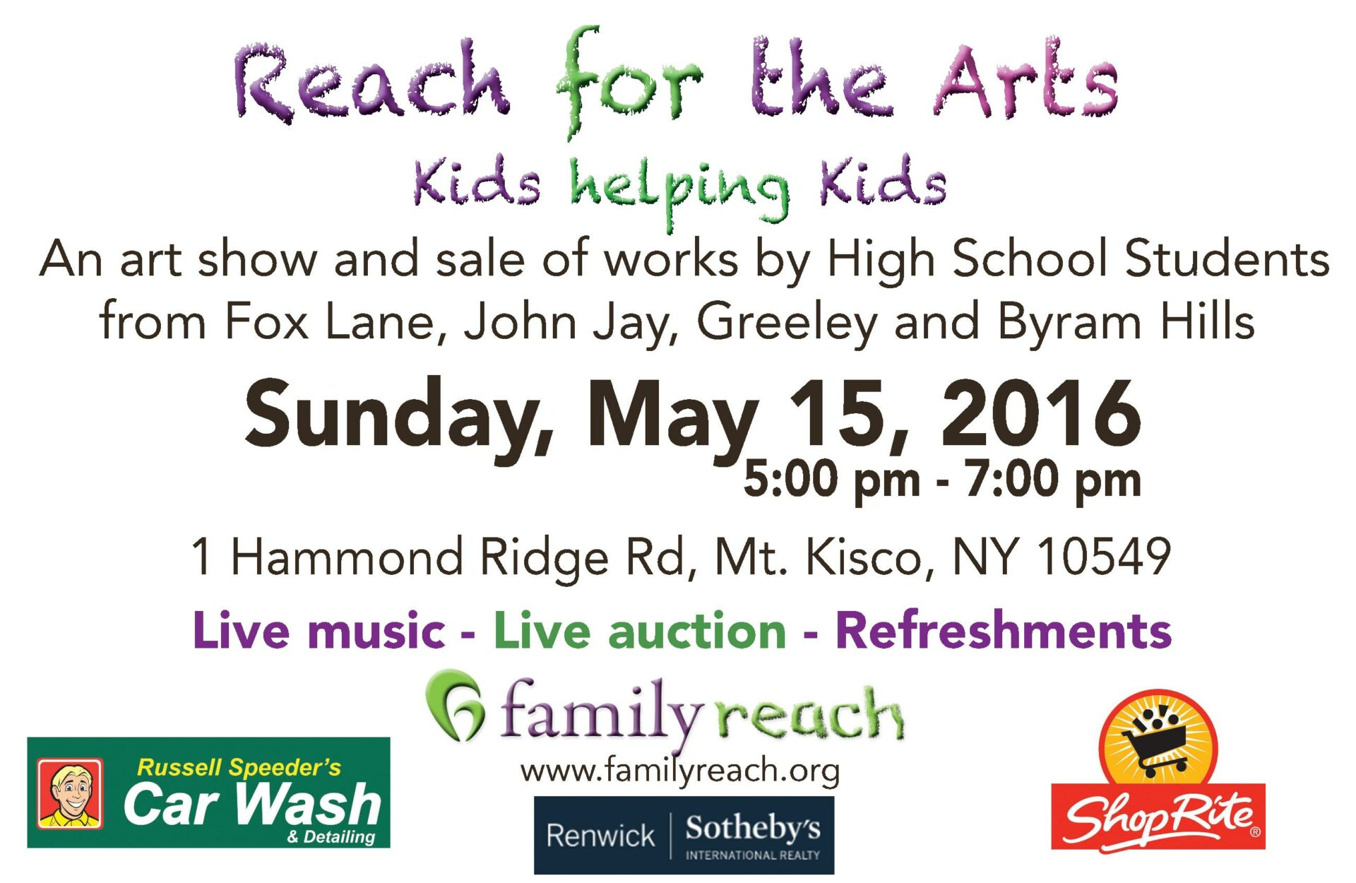 Reach For the Arts – Kids Helping Kids-Support Family Reach