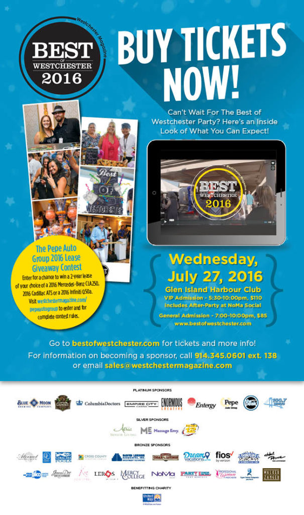 Here's a Sneak Peek of What You Can Expect at the Best of Westchester Party!