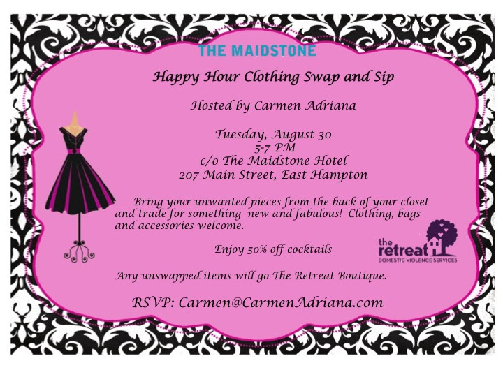 Clothing Swap at the Maidstone Hotel in East Hampton