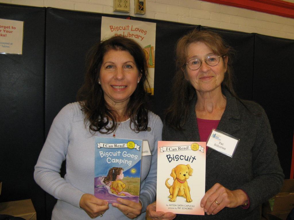 Biscuit Author Alyssa Capucilli and Illustrator Pat Schories_photo credit Ronni Diamondstein