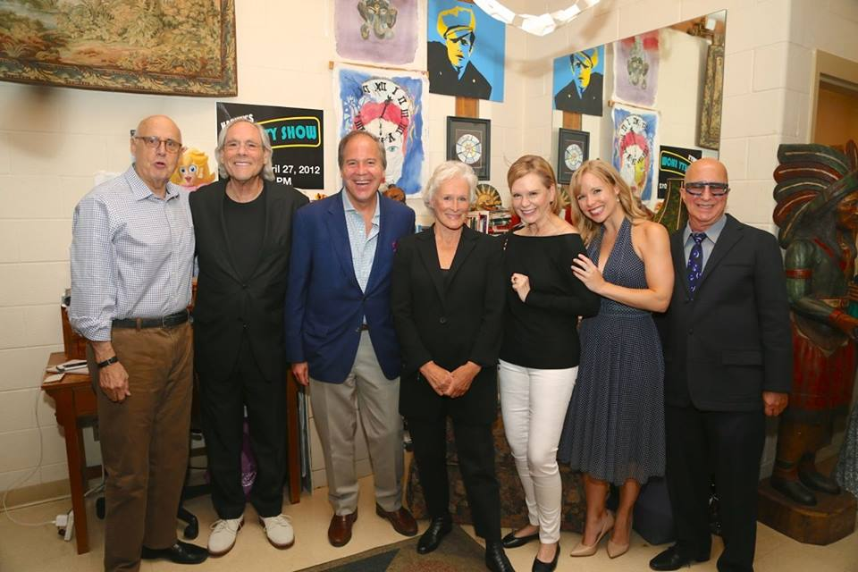 "Playhouse President John Farr: ""Last night I was proud to host an incredible group of performers who came out to support the Bedford Playhouse. It was an unforgettable evening."" From left: Jeffrey Tambor, Robert Klein, John Farr, Glenn Close, Terre Blair (Mrs. Marvin Hamlisch), Marissa McGowan, and Paul Shaffer (Missing: Chazz Palminteri - from the shot, not the show!) photo by Peter T. Michaelis"