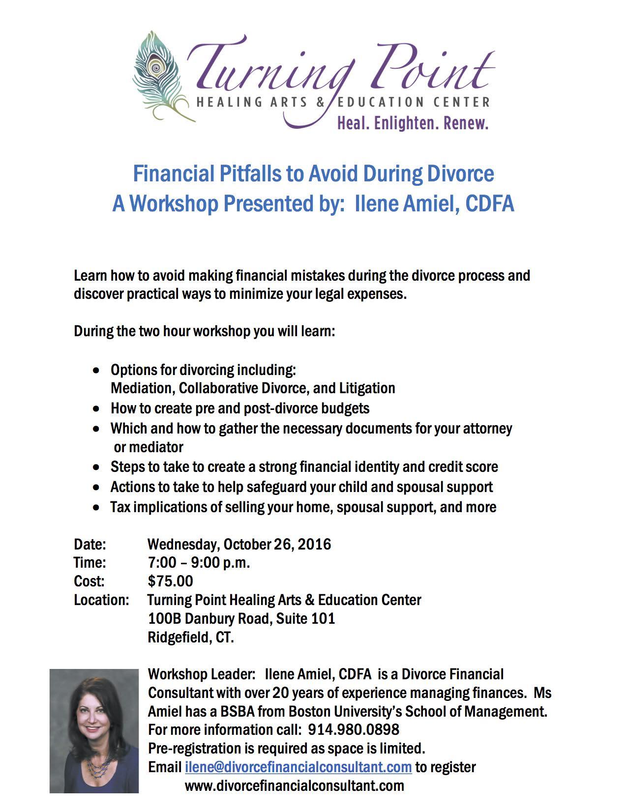 Divorce Workshop:  Financial Pitfalls to Avoid During Divorce