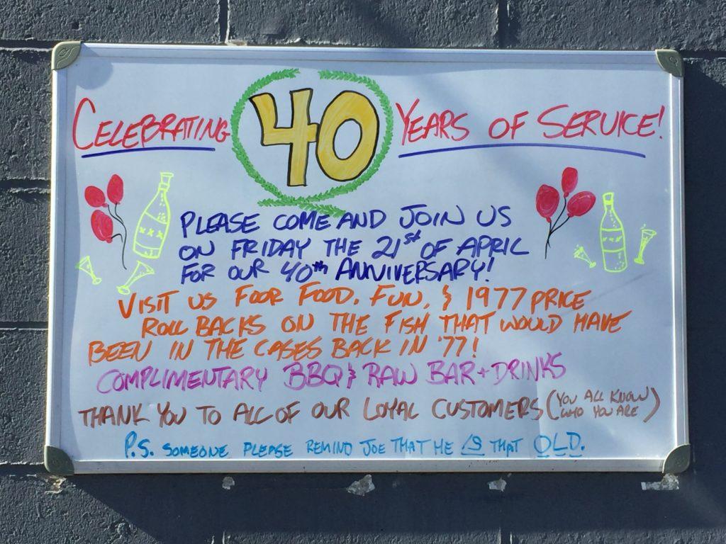 Mt. Kisco Seafood Celebrates 40 Years of Food Fun and Fish