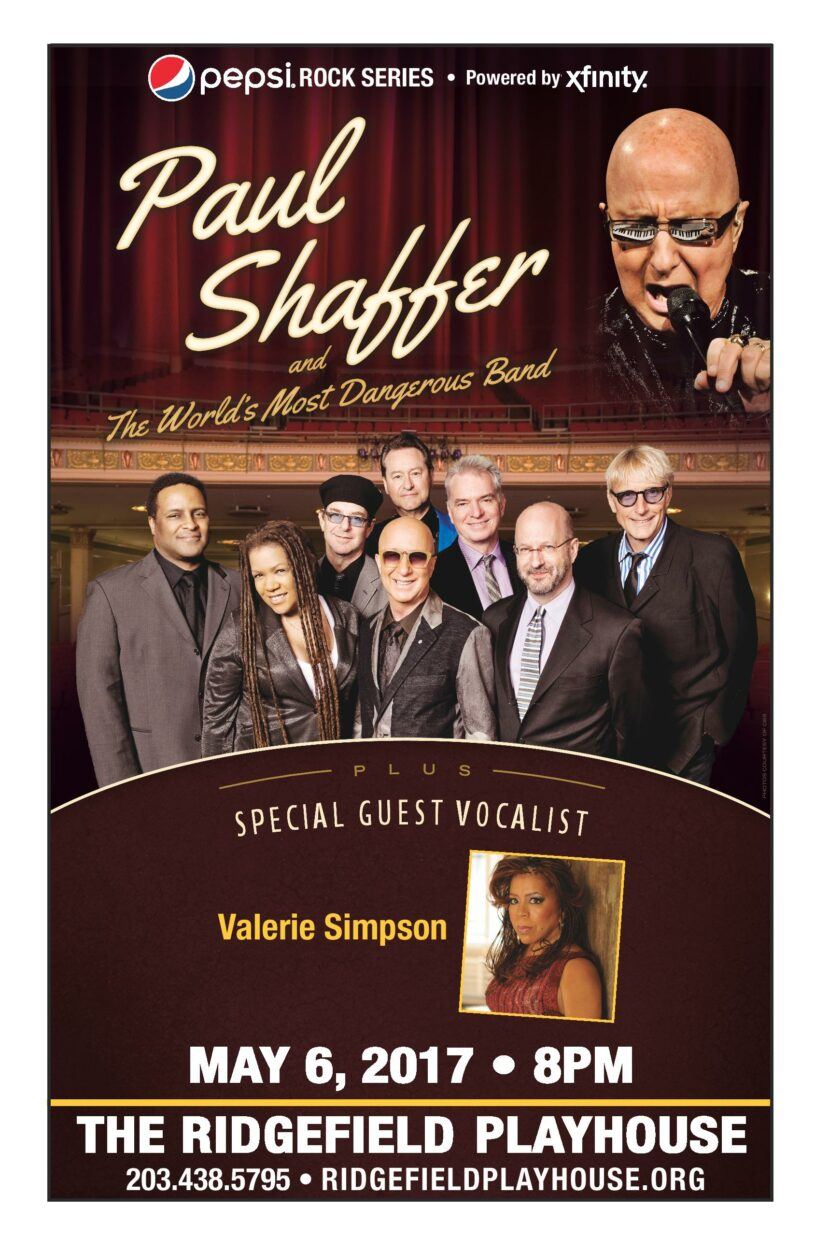 Paul Shaffer & The World's Most Dangerous Band Saturday, May 6, at Ridgefield Playhouse