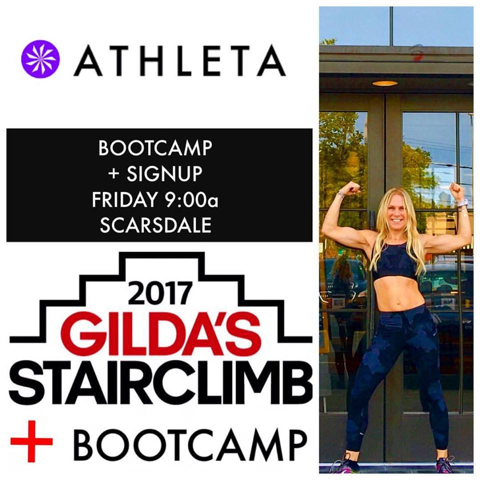 Workout Friday with Rhonda Hunt and Sign Up for @Gildasclubwestchester 2017 STAIRCLIMB