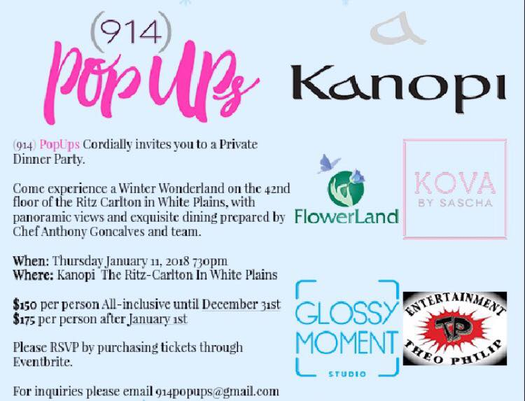 914 Pop Ups invites You to a Private Dinner Party