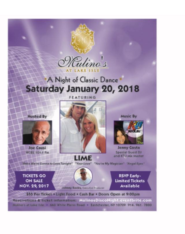 Mulino's Disco Night January 20, 2018