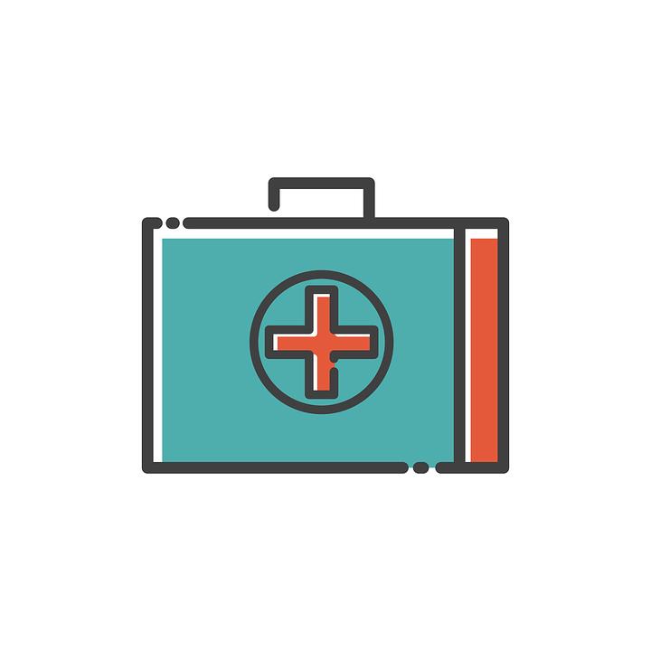 Medical, Box, Icon, Flat, Drug, Emergency, Kit, Help